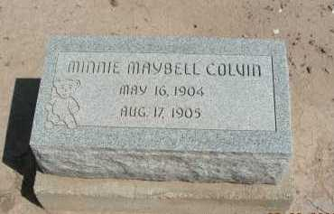 COLVIN, MINNIE MAYBELL - Graham County, Arizona | MINNIE MAYBELL COLVIN - Arizona Gravestone Photos