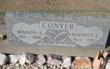 CONYER, BEATRICE L. - Graham County, Arizona | BEATRICE L. CONYER - Arizona Gravestone Photos