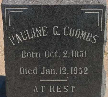 COOMBS, PAULINE G. - Graham County, Arizona | PAULINE G. COOMBS - Arizona Gravestone Photos