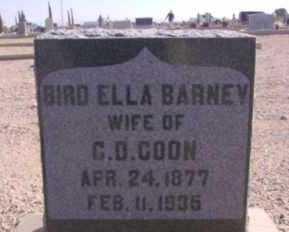 BARNEY COON, BIRD ELLA - Graham County, Arizona | BIRD ELLA BARNEY COON - Arizona Gravestone Photos