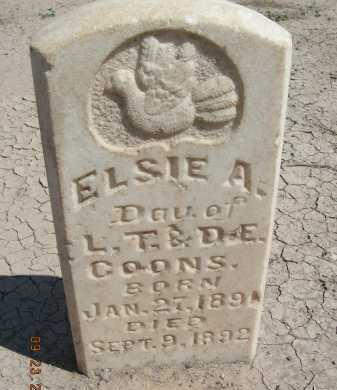 COONS, ELSIE A - Graham County, Arizona | ELSIE A COONS - Arizona Gravestone Photos