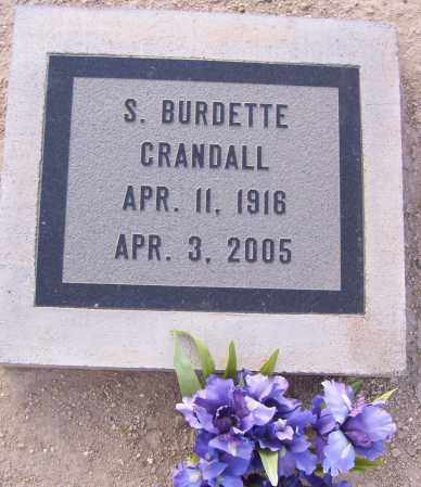 CRANDALL, STANLEY BURDETTE - Graham County, Arizona | STANLEY BURDETTE CRANDALL - Arizona Gravestone Photos