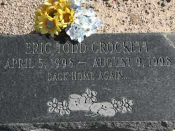 CROCKETT, ERIC TODD - Graham County, Arizona | ERIC TODD CROCKETT - Arizona Gravestone Photos