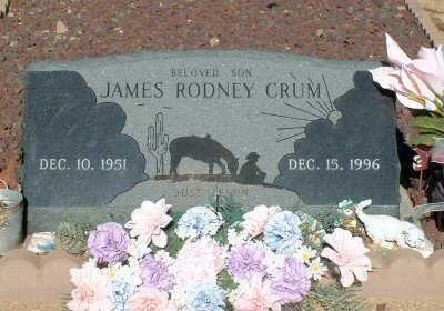 CRUM, JAMES RODNEY - Graham County, Arizona | JAMES RODNEY CRUM - Arizona Gravestone Photos