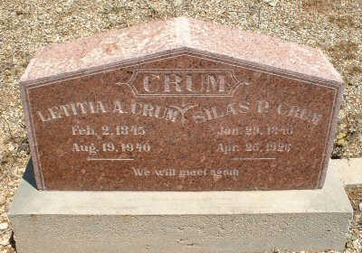 CRUM, LETITIA A. - Graham County, Arizona | LETITIA A. CRUM - Arizona Gravestone Photos