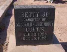 CURTIS, BETTY JO - Graham County, Arizona | BETTY JO CURTIS - Arizona Gravestone Photos