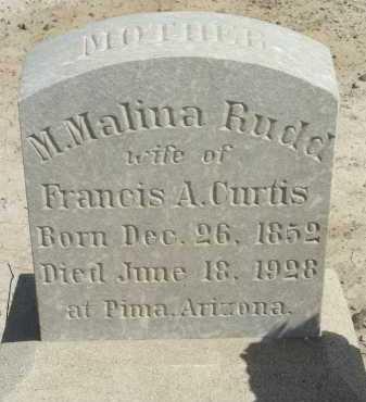 RUDD CURTIS, M MALINA - Graham County, Arizona   M MALINA RUDD CURTIS - Arizona Gravestone Photos
