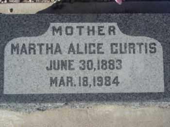 CURTIS, MARTHA ALICE - Graham County, Arizona | MARTHA ALICE CURTIS - Arizona Gravestone Photos