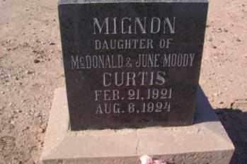 CURTIS, MIGNON - Graham County, Arizona | MIGNON CURTIS - Arizona Gravestone Photos