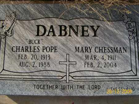 CHESSMAN DABNEY, MARY - Graham County, Arizona | MARY CHESSMAN DABNEY - Arizona Gravestone Photos