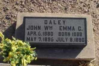 DALEY, JOHN WILLIAM - Graham County, Arizona   JOHN WILLIAM DALEY - Arizona Gravestone Photos