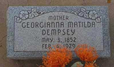 DEMPSEY, GEORGIANNA MATILDA - Graham County, Arizona | GEORGIANNA MATILDA DEMPSEY - Arizona Gravestone Photos