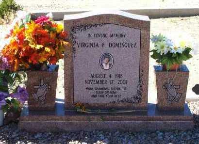 DOMINQUEZ, VIRGINIA - Graham County, Arizona | VIRGINIA DOMINQUEZ - Arizona Gravestone Photos