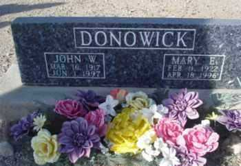 DONOWICK, JOHN W. - Graham County, Arizona | JOHN W. DONOWICK - Arizona Gravestone Photos