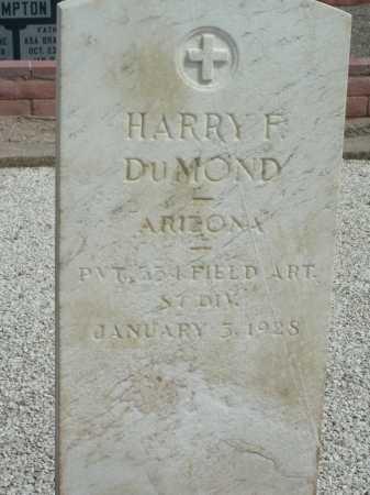 DUMOND, HARRY F - Graham County, Arizona | HARRY F DUMOND - Arizona Gravestone Photos