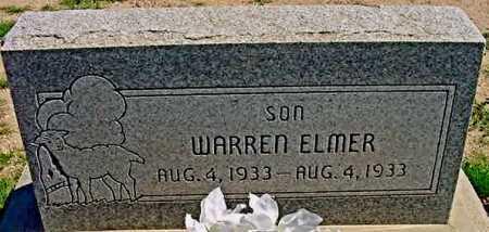 ELMER, (JOSEPH) WARREN - Graham County, Arizona | (JOSEPH) WARREN ELMER - Arizona Gravestone Photos