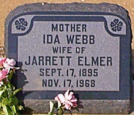 WEBB ELMER, IDA - Graham County, Arizona | IDA WEBB ELMER - Arizona Gravestone Photos