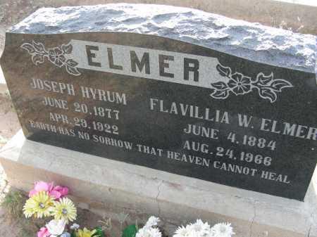 ELMER, JOSEPH HYRUM - Graham County, Arizona | JOSEPH HYRUM ELMER - Arizona Gravestone Photos