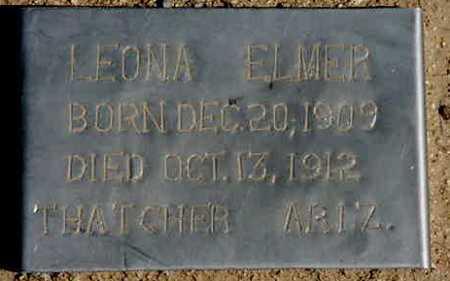 ELMER, LEONA - Graham County, Arizona | LEONA ELMER - Arizona Gravestone Photos