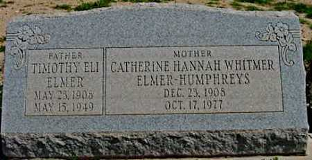 WHITMER ELMER-HUMPHREYS, CATHERINE HANNAH - Graham County, Arizona | CATHERINE HANNAH WHITMER ELMER-HUMPHREYS - Arizona Gravestone Photos