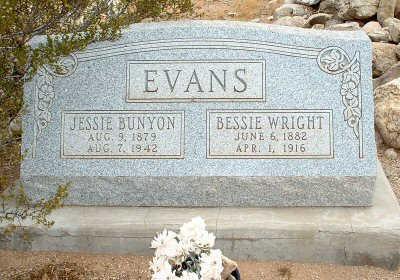 WRIGHT EVANS, BESSIE - Graham County, Arizona | BESSIE WRIGHT EVANS - Arizona Gravestone Photos