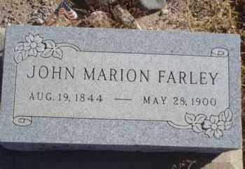 FARLEY, JOHN MARION - Graham County, Arizona | JOHN MARION FARLEY - Arizona Gravestone Photos