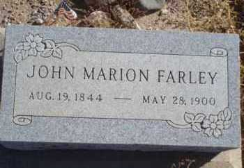 FARLEY, JOHN MARION - Graham County, Arizona | JOHN MARION FARLEY - Arizona Gravestone Photos