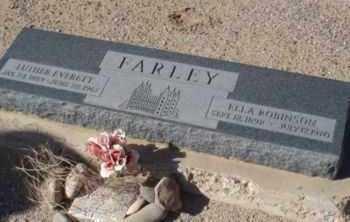 ROBINSON FARLEY, ELLA - Graham County, Arizona | ELLA ROBINSON FARLEY - Arizona Gravestone Photos