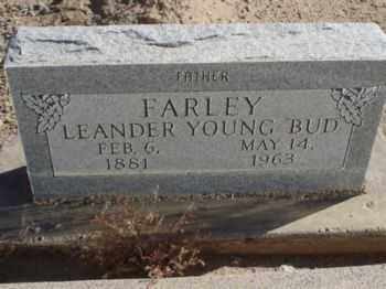FARLEY, LEANDER YOUNG  (BUD) - Graham County, Arizona | LEANDER YOUNG  (BUD) FARLEY - Arizona Gravestone Photos