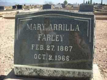 ANDERSON FARLEY, MARY ARILLA - Graham County, Arizona   MARY ARILLA ANDERSON FARLEY - Arizona Gravestone Photos