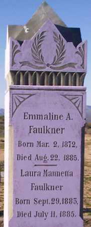 FAULKNER, LAURA MANNETTA - Graham County, Arizona | LAURA MANNETTA FAULKNER - Arizona Gravestone Photos