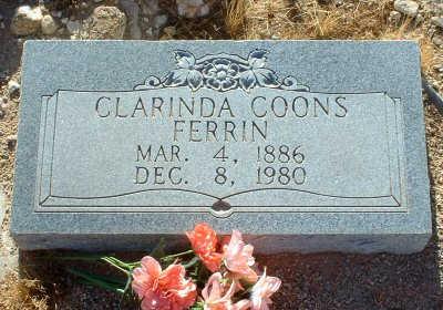 COONS FERRIN, CLARINDA - Graham County, Arizona   CLARINDA COONS FERRIN - Arizona Gravestone Photos