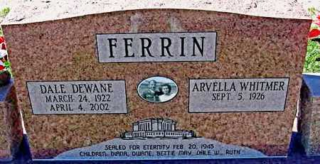 WHITMER FERRIN, ARVELLA - Graham County, Arizona | ARVELLA WHITMER FERRIN - Arizona Gravestone Photos