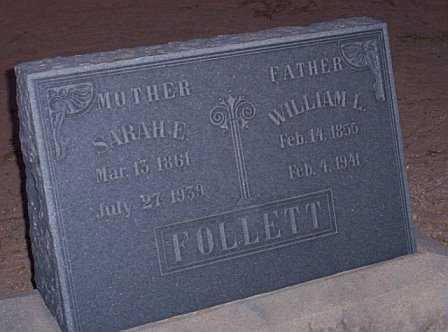 HAWS FOLLETT, SARAH E. - Graham County, Arizona | SARAH E. HAWS FOLLETT - Arizona Gravestone Photos