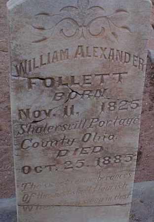 FOLLETT, WILLIAM ALEXANDER - Graham County, Arizona   WILLIAM ALEXANDER FOLLETT - Arizona Gravestone Photos