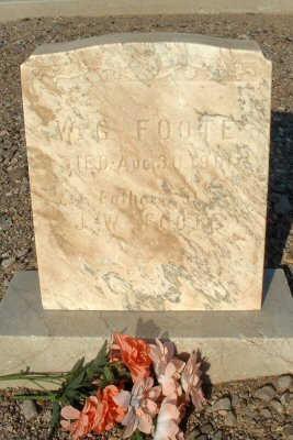 FOOTE, W. G. - Graham County, Arizona | W. G. FOOTE - Arizona Gravestone Photos