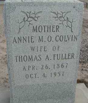 FULLER, ANNIE M O - Graham County, Arizona   ANNIE M O FULLER - Arizona Gravestone Photos