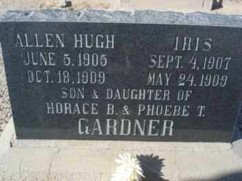 GARDNER, ALLEN HUGH - Graham County, Arizona | ALLEN HUGH GARDNER - Arizona Gravestone Photos