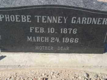 TENNEY GARDNER, PHOEBE RELIEF - Graham County, Arizona | PHOEBE RELIEF TENNEY GARDNER - Arizona Gravestone Photos