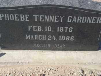 TENNEY GARDNER, PHOEBE RELIEF - Graham County, Arizona   PHOEBE RELIEF TENNEY GARDNER - Arizona Gravestone Photos