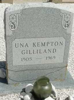KEMPTON GILLILAND, UNA - Graham County, Arizona | UNA KEMPTON GILLILAND - Arizona Gravestone Photos
