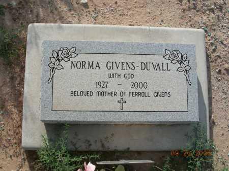 GIVENS-DUVALL, NORMA - Graham County, Arizona | NORMA GIVENS-DUVALL - Arizona Gravestone Photos