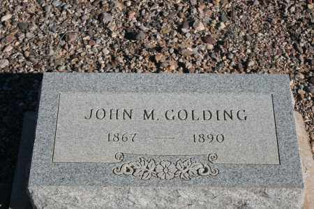 GOLDING, JOHN M. - Graham County, Arizona | JOHN M. GOLDING - Arizona Gravestone Photos