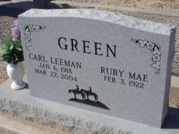 GREEN, RUBY MAE - Graham County, Arizona | RUBY MAE GREEN - Arizona Gravestone Photos