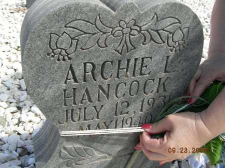 HANCOCK, ARCHIE L - Graham County, Arizona   ARCHIE L HANCOCK - Arizona Gravestone Photos