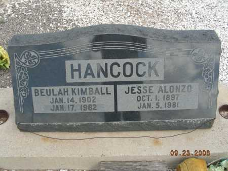 HANCOCK, JESSE ALONZO - Graham County, Arizona | JESSE ALONZO HANCOCK - Arizona Gravestone Photos