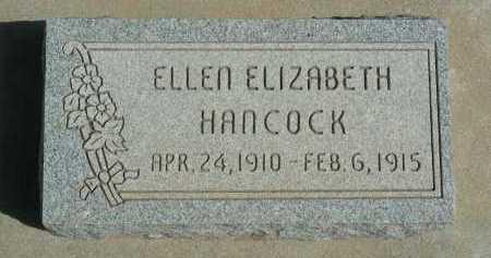 HANCOCK, ELLEN ELIZABETH - Graham County, Arizona | ELLEN ELIZABETH HANCOCK - Arizona Gravestone Photos