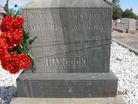 HANCOCK, FRANKLIN L - Graham County, Arizona | FRANKLIN L HANCOCK - Arizona Gravestone Photos