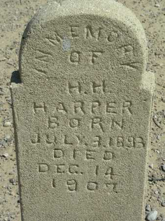 HARPER, H H - Graham County, Arizona | H H HARPER - Arizona Gravestone Photos
