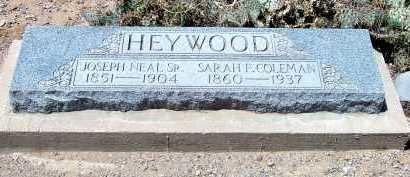 HEYWOOD, SARAH FRANCELLE - Graham County, Arizona | SARAH FRANCELLE HEYWOOD - Arizona Gravestone Photos
